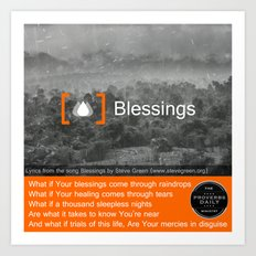 Blessings Art Print