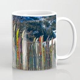 Colorado Ski Fence Coffee Mug