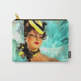 Jean-Gabriel Domergue painting remake Carry-All Pouch