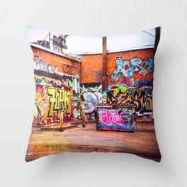 Graffiti Galore Throw Pillow