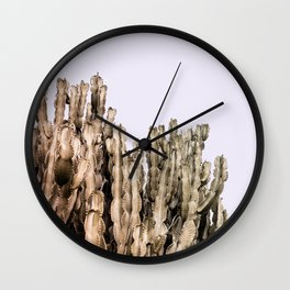 Metal Cactus Wall Clock