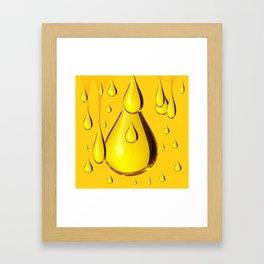 RICH GOLDEN HONEY DRIPPING ART Framed Art Print