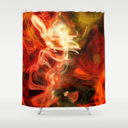 Fire Lights Shower Curtain