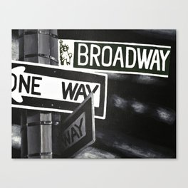 One Way to Broadway Canvas Print
