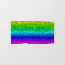 Bright Neon Rainbow Color Wheel Spectrum Brick Wall Hand & Bath Towel