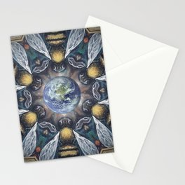 The Keepers of the Garden // Bee Beehive Insect Earth Nature Organic Sustainable Animal Environment Stationery Cards