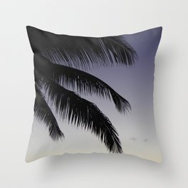 Palm Sway Throw Pillow