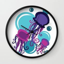 Colorful Jellyfish Wall Clock