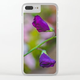 Sweet Pea 4 Clear iPhone Case