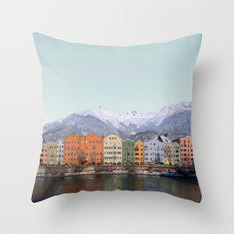 Innsbruck, Austria Travel Artwork Throw Pillow