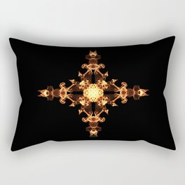 Fire Cross Rectangular Pillow