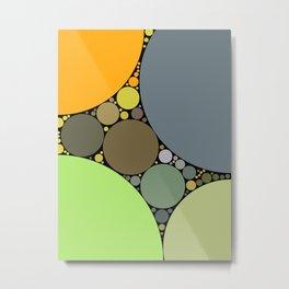 jasmine redux: earthy orange grey lime abstract Metal Print