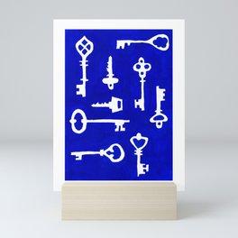 Antique keys to open whatever you want Mini Art Print
