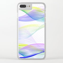 Background with colorful lines Clear iPhone Case