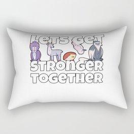 Motivational Animal Teamwork Design Rectangular Pillow