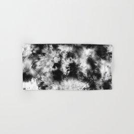 Black and White Tie Dye & Batik Hand & Bath Towel
