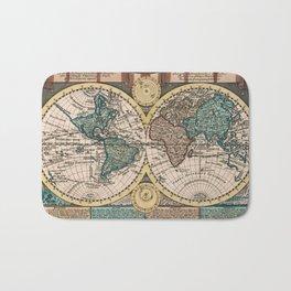 Vintage Map of The World (1740) Bath Mat
