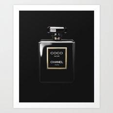 Perfume Noir Black Art Print
