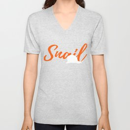Amazing Snail Graphic T Shirt Unisex V-Neck