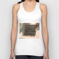 typewriter Tank Tops featuring TYPEWRITER by Alejandra Triana Muñoz (Alejandra Sweet