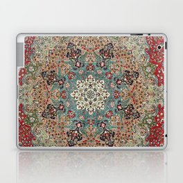 Antique Red Blue Black Persian Carpet Print Laptop & iPad Skin