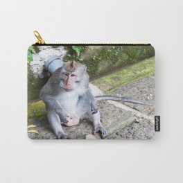 Crab-Eating Macaque I (Balinese Monkey) Carry-All Pouch
