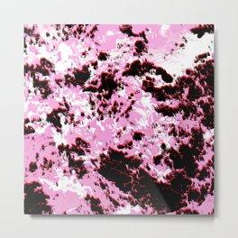 Break Pink Metal Print