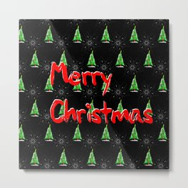 Merry Christmas Pattern Metal Print