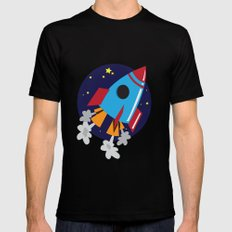 Space Cruiser SMALL Black Mens Fitted Tee