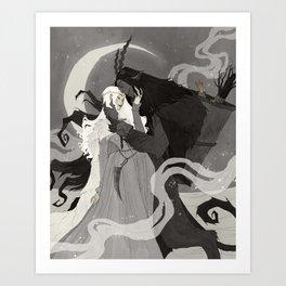 Krampus and Perchta III Art Print