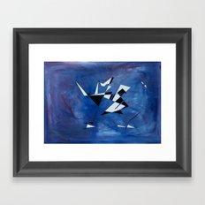 blue pattern art  Framed Art Print