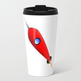 Red Space Rocket Travel Mug