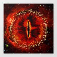 aragorn Canvas Prints featuring Sauron The Dark Lord by neutrone