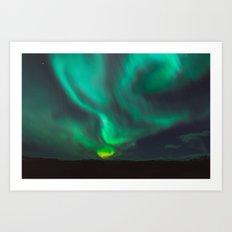 Northern Lights - Vik, Iceland Art Print