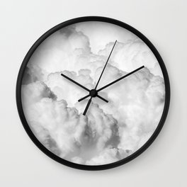 White Clouds Wall Clock