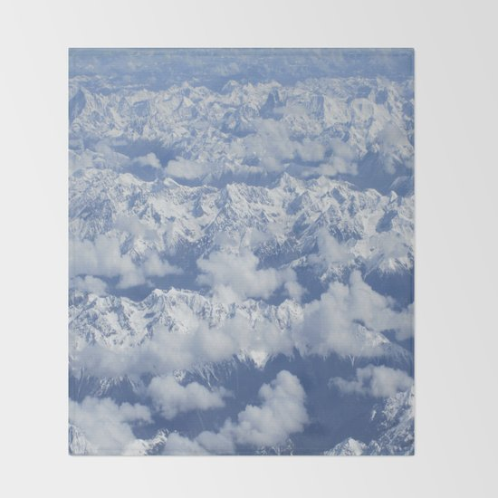 Icy Mountains Throw Blanket