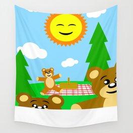Teddy Bear Picnic Wall Tapestry