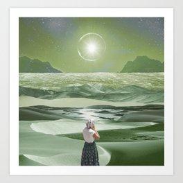 Green sunlight Art Print