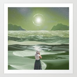 Green sunlight Art Print