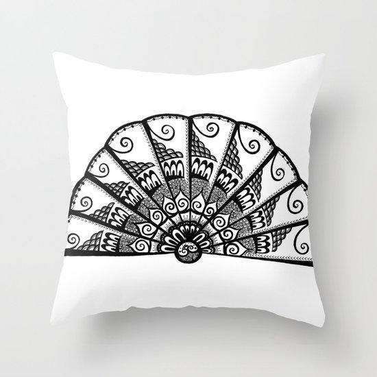 A Fine Fan Throw Pillow