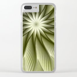 Olive Fantasy Flower Clear iPhone Case