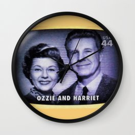 Ozzie and Harriet Wall Clock