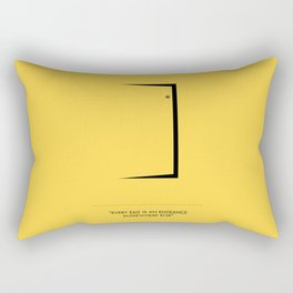 Lab No. 4 - Door Minimalist Modern Wall Art for Entrance Rectangular Pillow