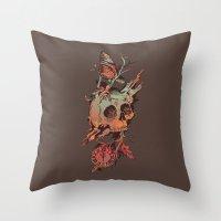 et Throw Pillows featuring Mors et Natura by Norman Duenas