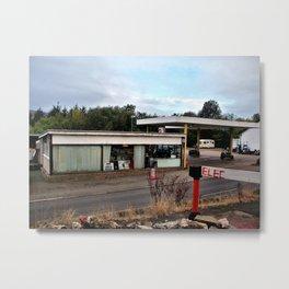 garage near alston, cumbria/ oct 2010 Metal Print