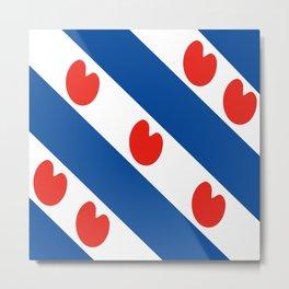 Frisian Friesland region netherlands country flag Dutch province Metal Print