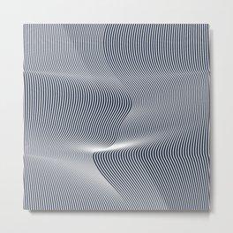 WhiteNoise Metal Print