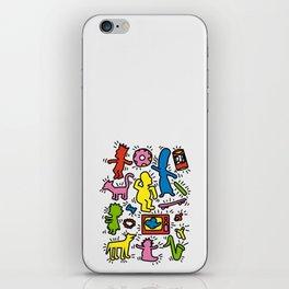 Keith Haring & Simpsons iPhone Skin