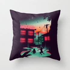 Night Swim Throw Pillow