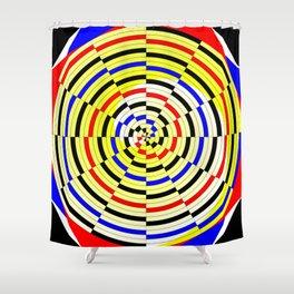 Yellow Spiral Shower Curtain